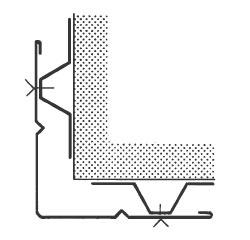 Figur 5:5. Breda beslag kan förstyvas med en extra rillor.  Illustration från SBI:66.
