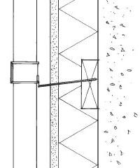 Figur 5:6. På putsade fasader krävs också underlag för infästningar. Illustration: Torbjörn Osterling.