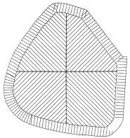Figur 4:7. Falsförlägning, Idé 1. Torbjörn Osterling.