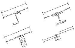 Figur 7:41. Infästning av takplåt på ståloch träunderlag.
