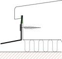 Figur10:57. Ankantning mot fönsterkarm. Används som alternativ infästning av fönsterbleck och liknande.