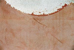 Bild 13:16. Vid vattenblästring kan nedbruten plastisol tas bort. Foto: Fr Ramström AB