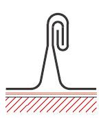 Figur10:14. Dubbel ståndfals. Används vid alla bandtäckningar samt vid dubbelfalsade skivtäckningar.