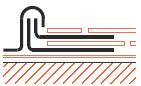 Figur10:69. Inskottsbitar vid skiffertäckning mot plåtbeslag.
