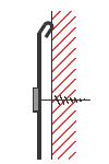 Figur10:8. Ankantat omslag med ankantning. Används av samma skäl som ankantning samt att skydda klippkanten.