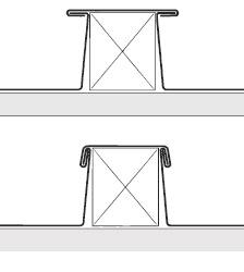 Figur 9:6. Listtäckning i två utföranden.