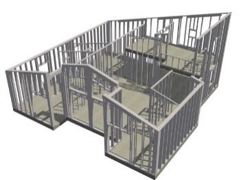Figur 14.1. CAD-ritning i 3D som visar uppbyggnaden. Illustration: Lindab AB