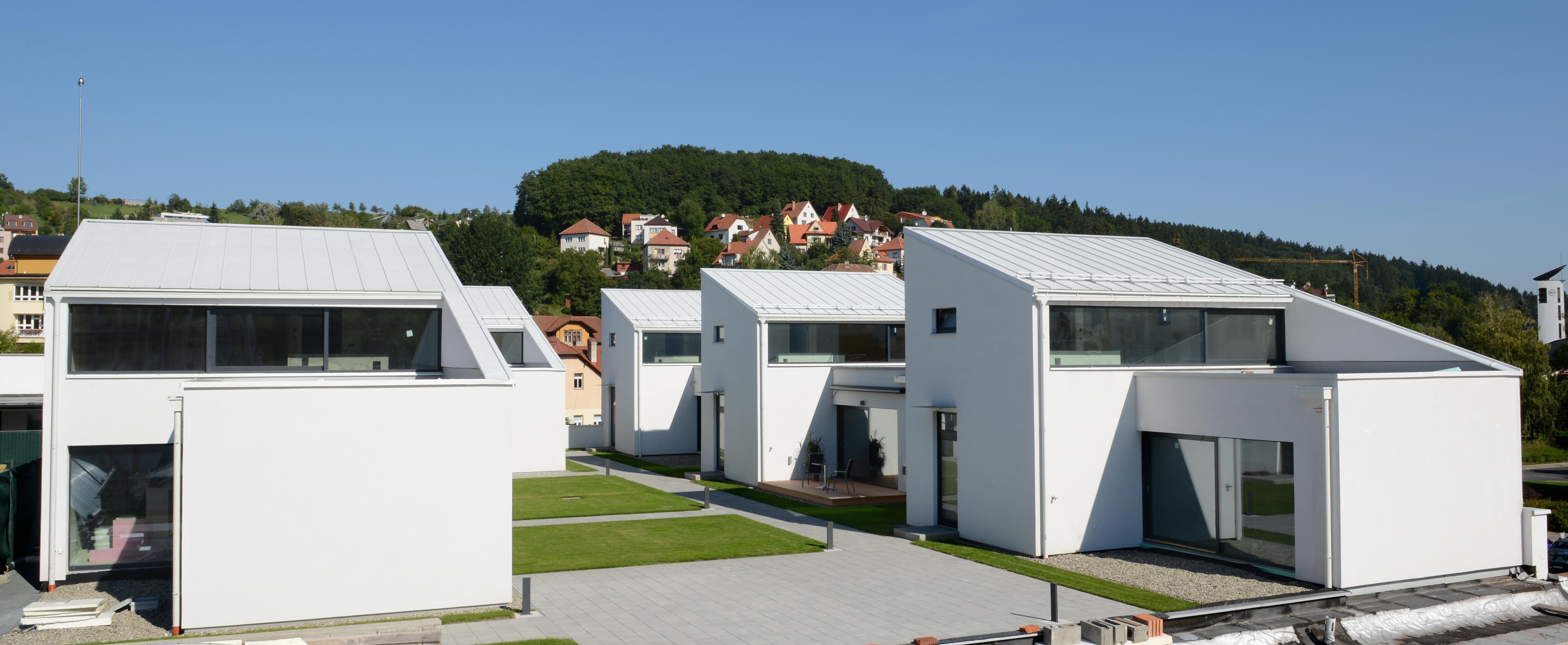 Bild 14:10. Grupphusområde i lättbyggnadsteknik. Fota: Lindab AB.