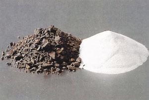 Bild 3:1. Bauxit förädlas till aluminiumoxid. Källa: Finspong Aluminium AB.