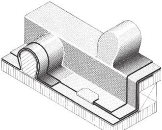 Figur 2:6. Listtäckning med blyplåt. Exempel på detalj från en av tillverkarna av blyplåt i England.