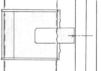 Figur 7:31. Infästning stuprörssvep till träpanel.