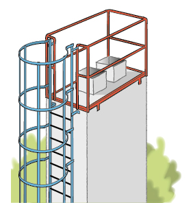 Figur 11:23 a. Arbetsplan på skorsten.