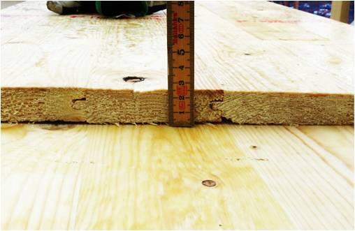 Bild 6:13. Vid taktäckning med plan plåt bör underlagsspont ha en tjocklek på minst 23 mm.