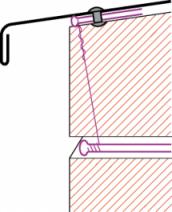 Figur10:51. Trådklammer. Används som infästning av lister och beslag på fasad.