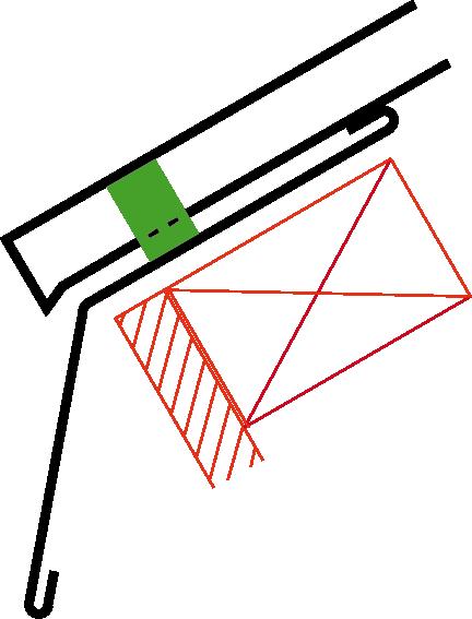 Figur10:64. Avslutning av profilerad plåt vid takfot med fotplåt där underlagstak saknas.