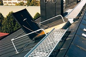 Bild 11:3. Genomtänkt tillträdesväg till taket.