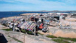 Bild 13:4. Bohus-Malmön erbjuder en tuff miljö för färgtester. Foto: Leif Johansson, Renovator