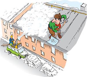 Bild 13:10. Behandlar Du bilen på samma sätt som taket? Illustration: Hans Sandqvist, Bildinformation i Älvsjö AB