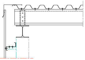 Figur 10:89. Vindskiva över trapetsprofilerad plåt enligt Gasell Profil AB.