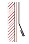 Figur10:9. Utknäckt kant med omslag. Används som avslutning och vattenavledare på till exempel hängskivor.