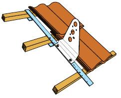 Figur 11:64. Läktfäste för tre bärläkt. Figur: Weland Stål AB.