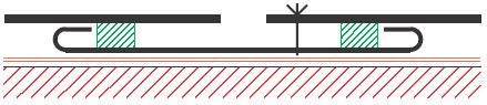 Figur 8:31. Skarv kant i kant med tätbleck. Detta utförande används företrädesvis vid tjocka plåtar.