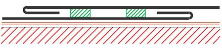 Figur 8:32. Förstorat överlapp med tätning och drivvattenhake.