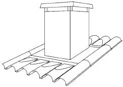 Figur 9:1. Förtillverkad ventilationshuv. Anpassad till viss typ av plåtprofil.