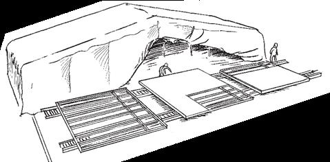 Figur 14:2. Tillverkning av väggelement med lättbyggnadsteknik.